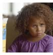 Mixed-race child from the Cheerios advert