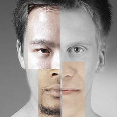 mixed race facial composite Race Are We So Different