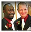 Erik D Swope-Wise, a bishop at a small Pentecostal church, and his husband getting married